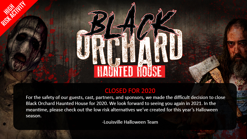 Black Orchard Haunted House Will Close for 2020