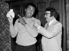 Muhammad Ali performs a magic trick he learned at Caufield's Novelty in Louisville, KY.