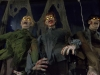 A trio of animatronic zombies at Halloween Express!