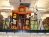 This inflatable Haunted House greets costumers on the second floor.