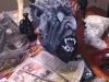 Krampus mask in process!