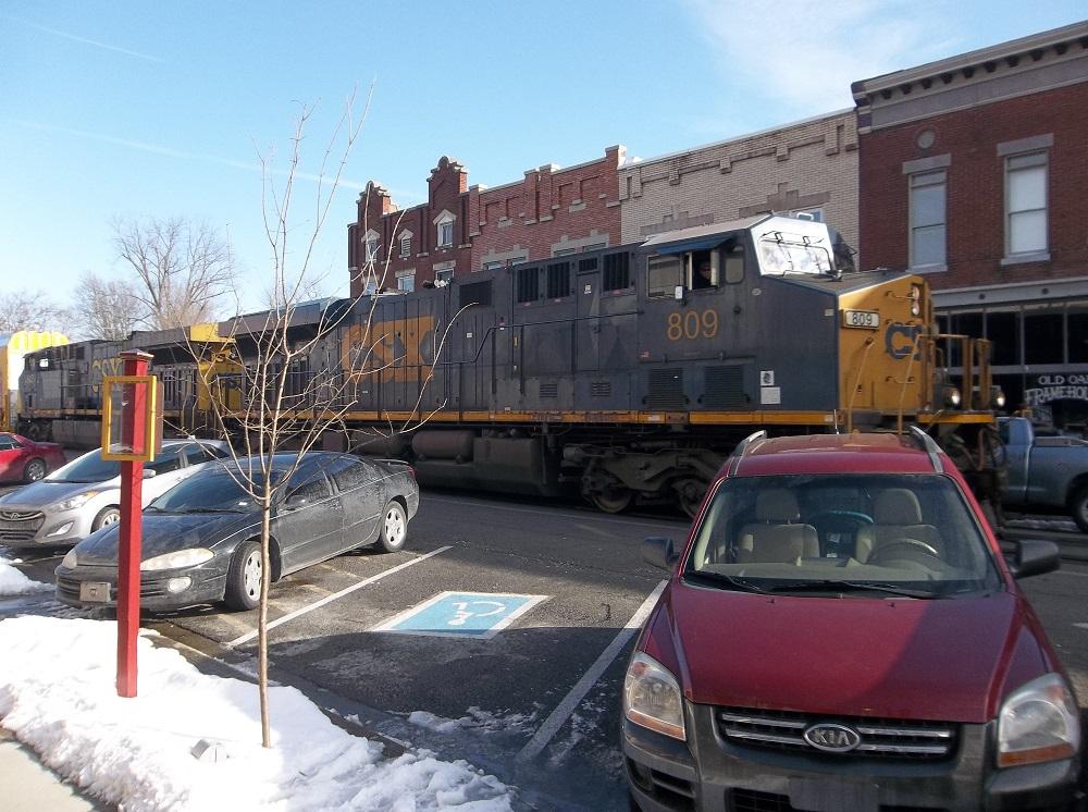 The Train Runs Right Down Main Street In La Grange Ky